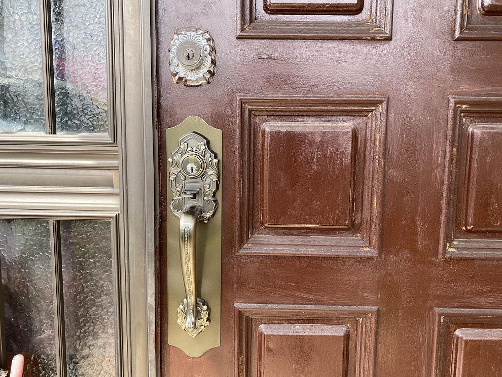 廃番のためドア全体交換と言われた錠前の交換後