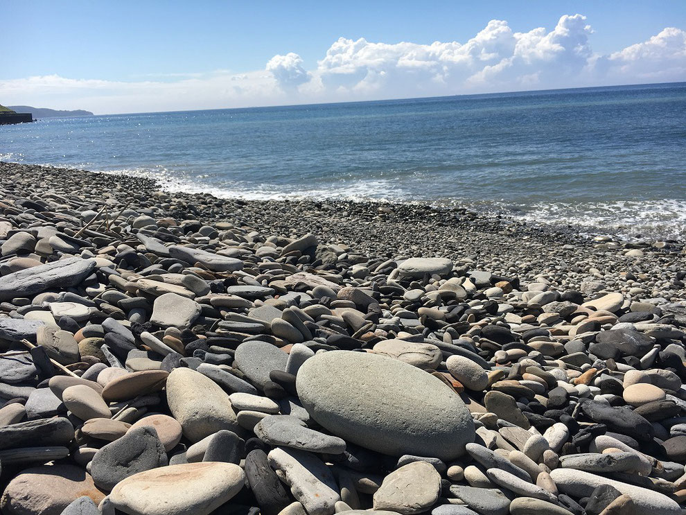 池島の海岸の石