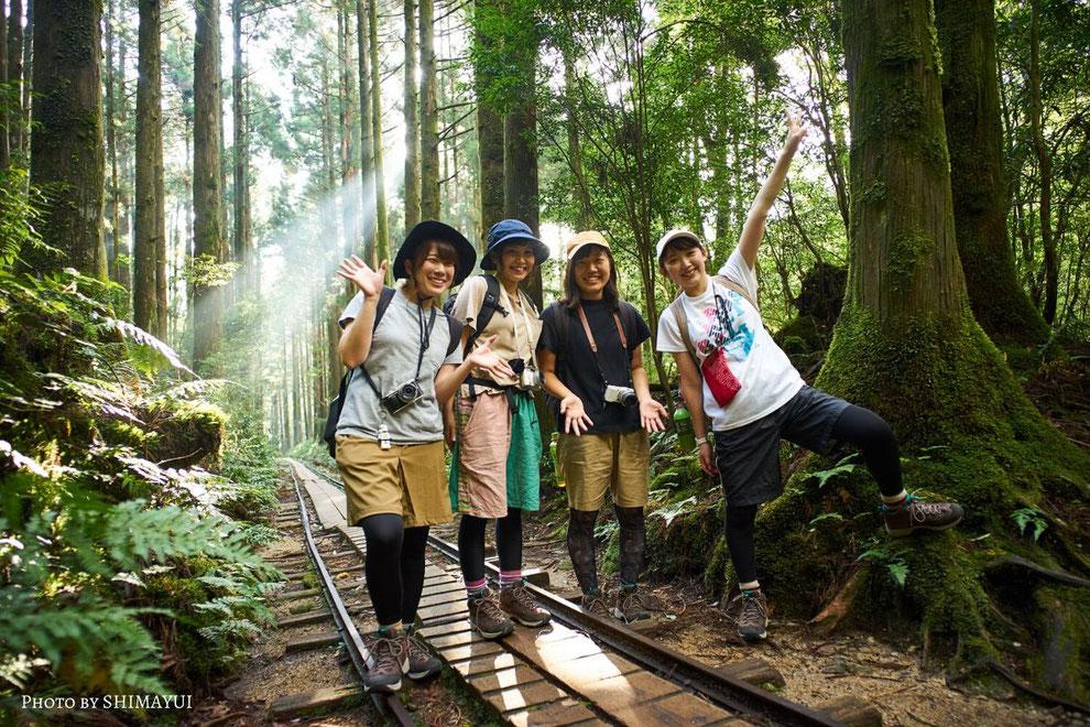 屋久島のガイドと歩く縄文杉トレッキングツアーは、ガイドなしでは気付けない新たな発見の連続です。足元だけを見て、縄文杉までトレッキングするのはもったいない。