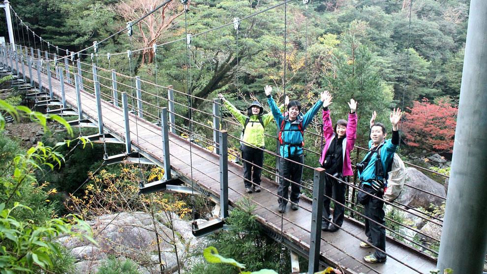さつき吊橋(白谷雲水峡ガイドツアー)