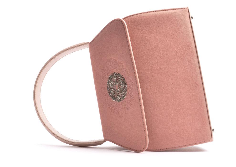 reizende Dirndltasche  Henkeltasche EMMA rose mit Schmuckfiligran OSTWALD Traditional Craft