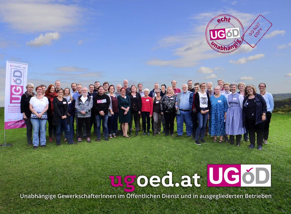 UGÖD-Gruppenfoto im Grünen, Herbst 2019