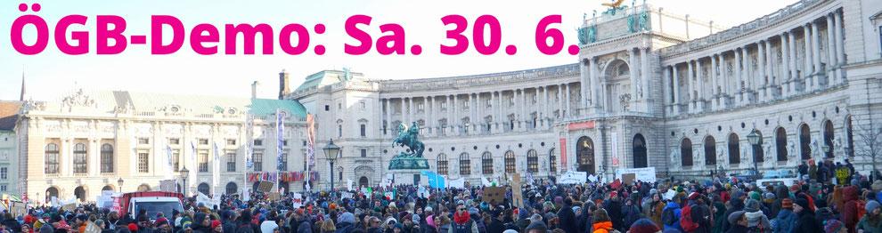 NEIN zum 12-Stunden-Tag! Sei dabei! DEMO: Treffpunkt Westbahnhof Wien, Sa. 30. Juni 2018, 14 Uhr