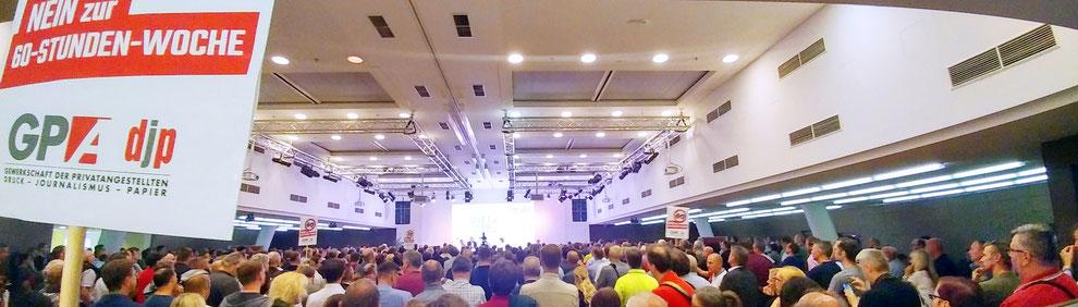 Voller ÖGB-Saal während der BetriebsrätInnen-Konferenz