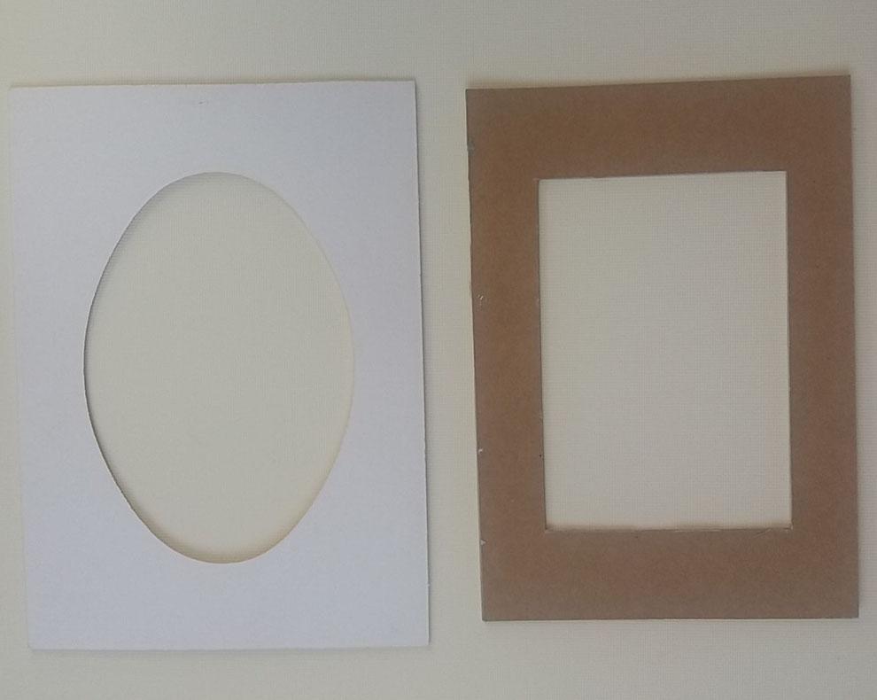 Schablonen für die Bild Form.