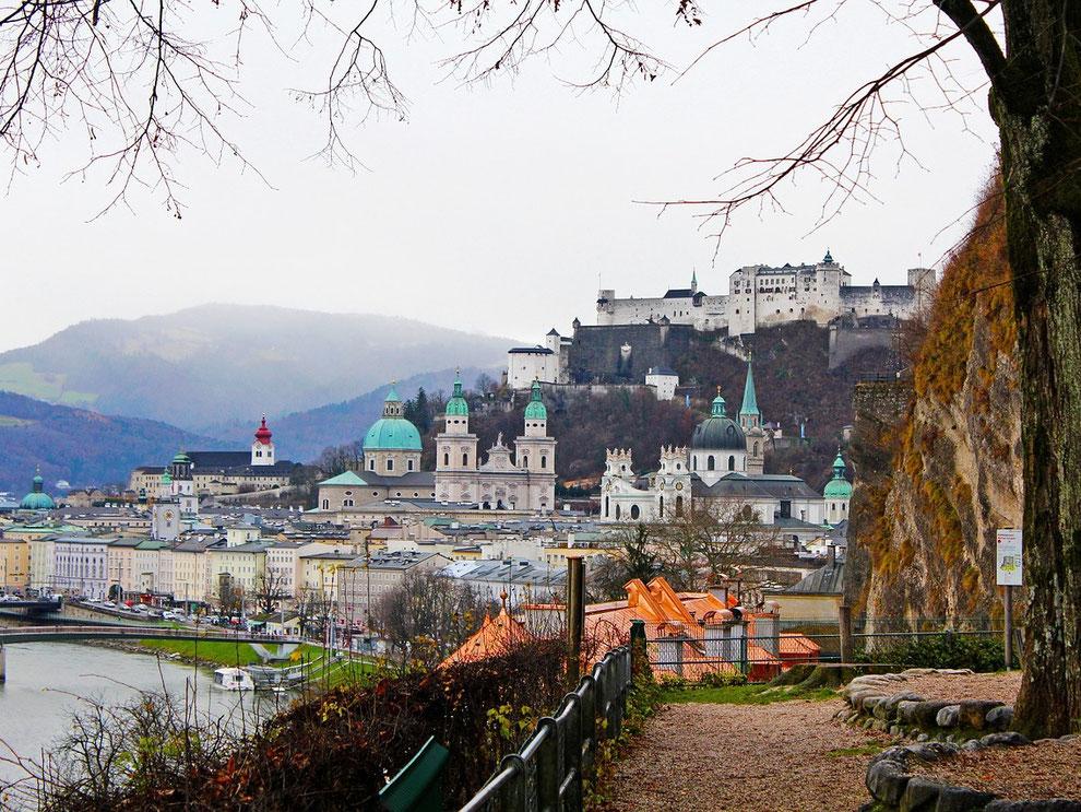 Salzburgs Stadtberge prägen das Bild von Salzburg