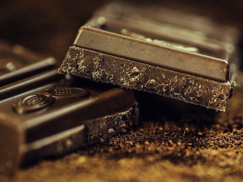 Schokolade oder Kuvertüre