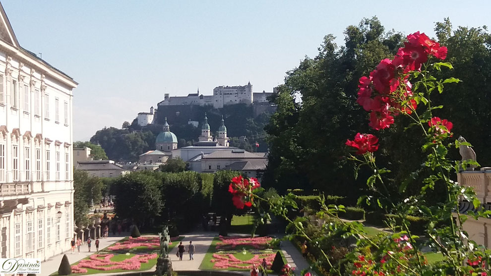 Durch Ausrichtung auf Dom und Festung wird Mirabell in das historische Stadtbild einbezogen