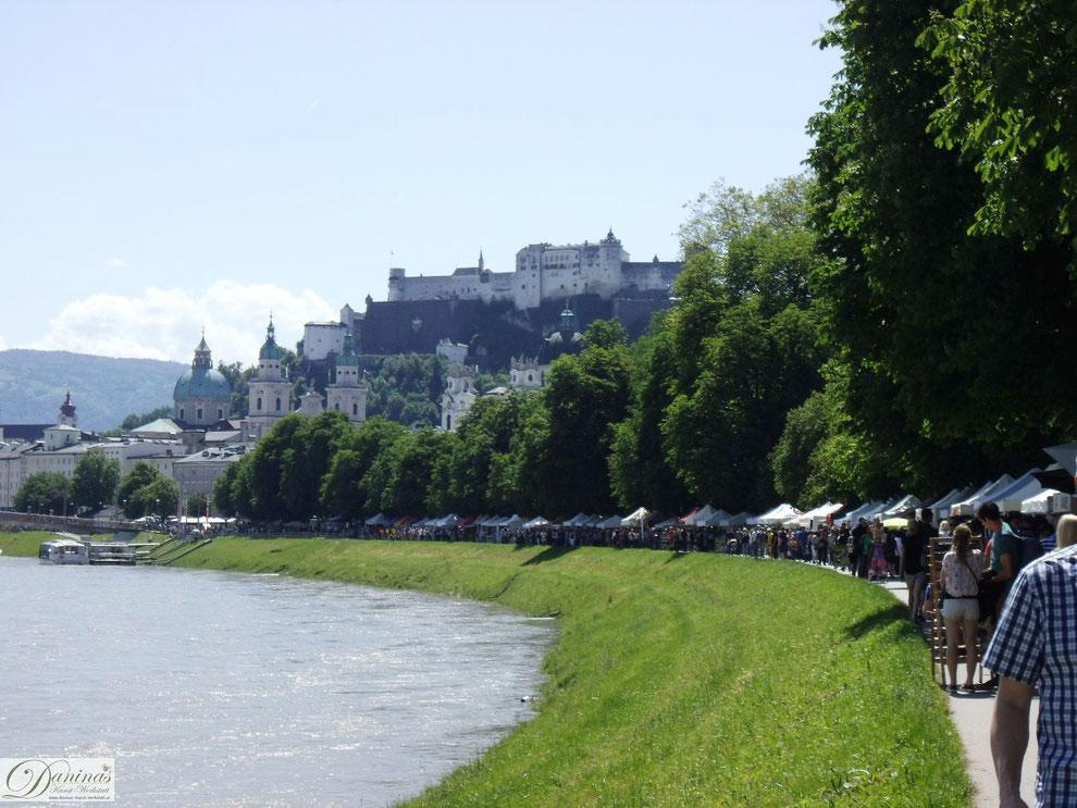 Salzburg Salzachgalerien: multikulturelle Kunst und Handwerk - mit Festungsblick