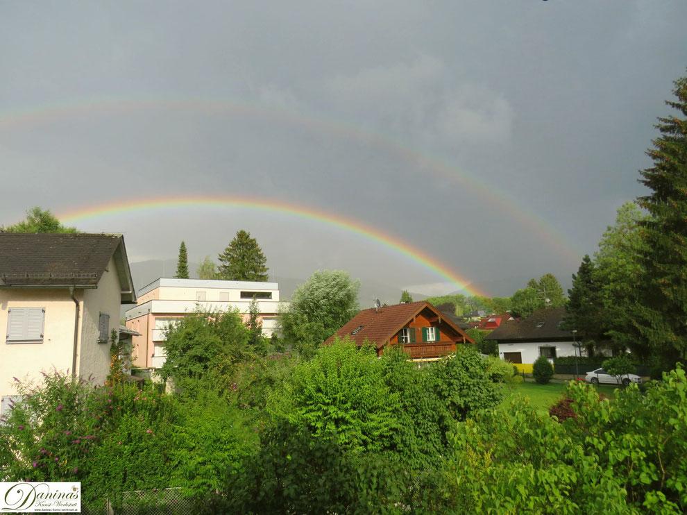 Regenbogen über Salzburg - Foto by Daninas-Kunst-Werkstatt.at