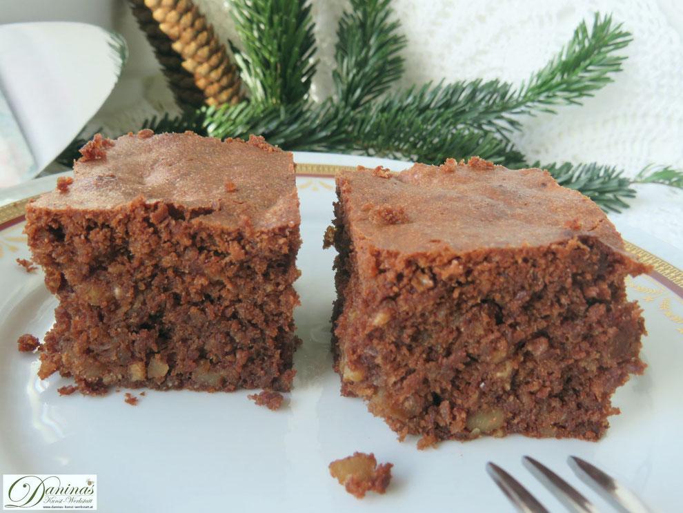 Schoko Brownies mit Nüssen. Weihnachtsbäckerei Konditorrezept by Daninas Dad mit Schritt-für-Schritt Anleitung.