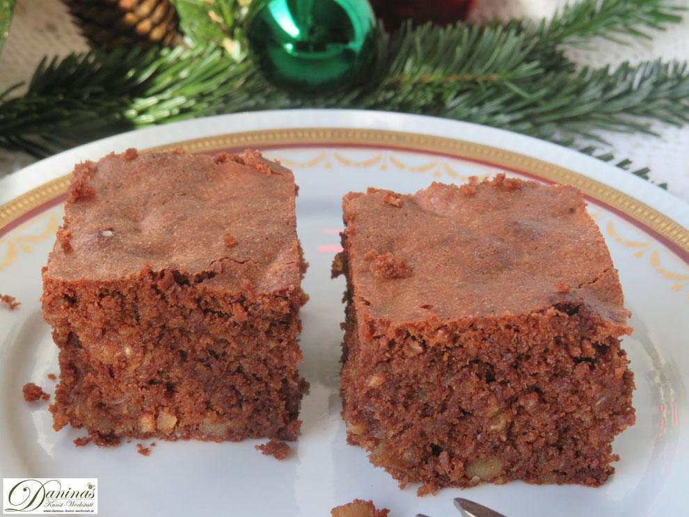 Saftige Brownies mit Nüssen, Konditorrezept by Daninas Dad.