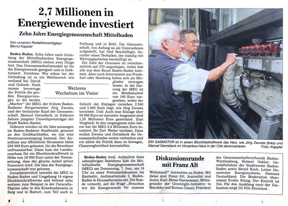 Presse: Acher- und Bühler Bote, 6. Juni 2018