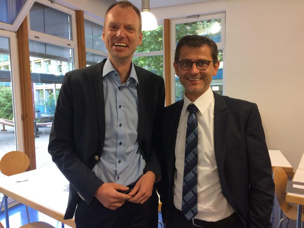 Lars Ziegenbein (li.), Dr. Michael Borchard (re.)
