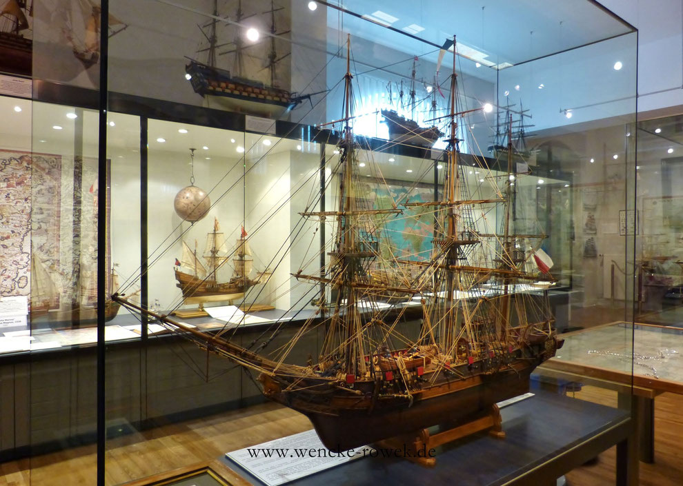 Die L'Astrolabe im Schifffahrtsmueum Nordfriesland am Zingel in Husum