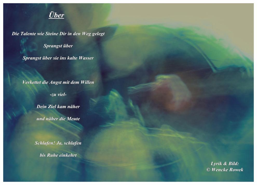 """Gedicht """"Über"""" von der Dichterin Wencke Rowek aus Nordfriesland"""
