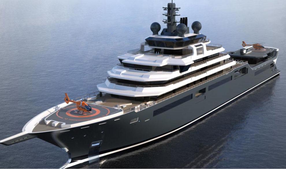 Projekt REV-die längste Yacht der Welt_Forschungsschiff_Kjell Inge Rokke