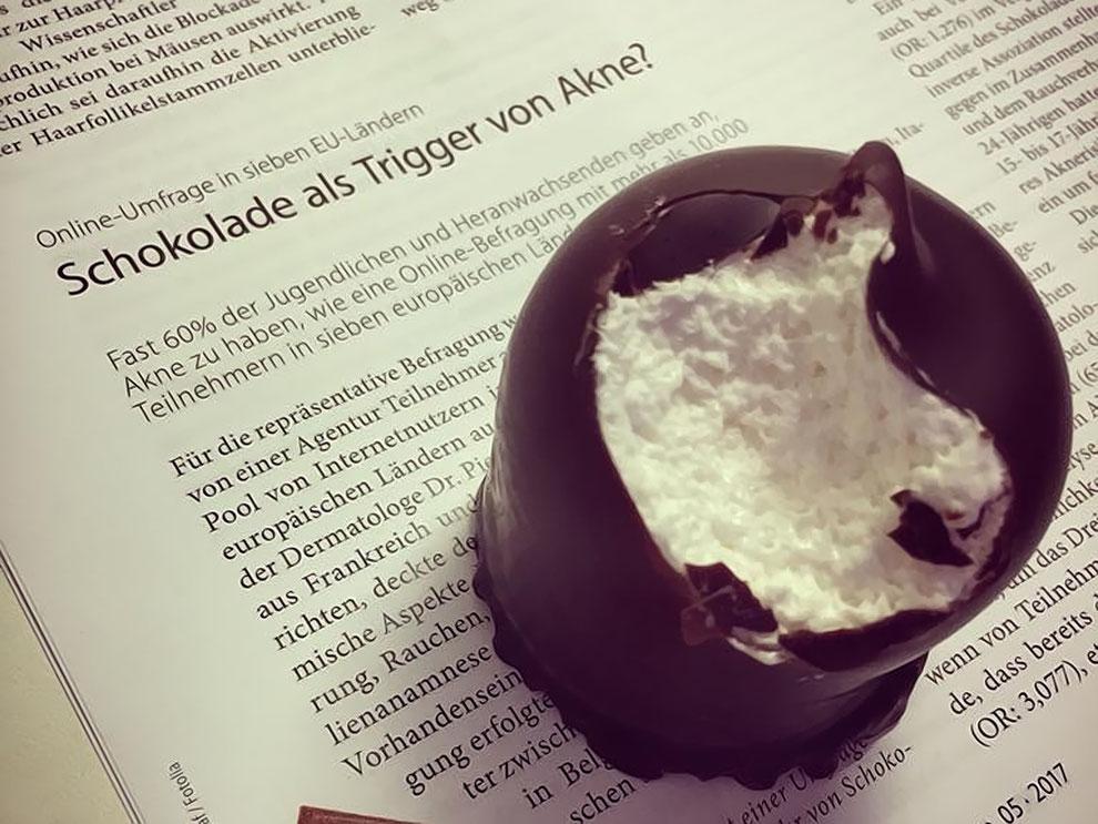 Finger weg von Schokolade