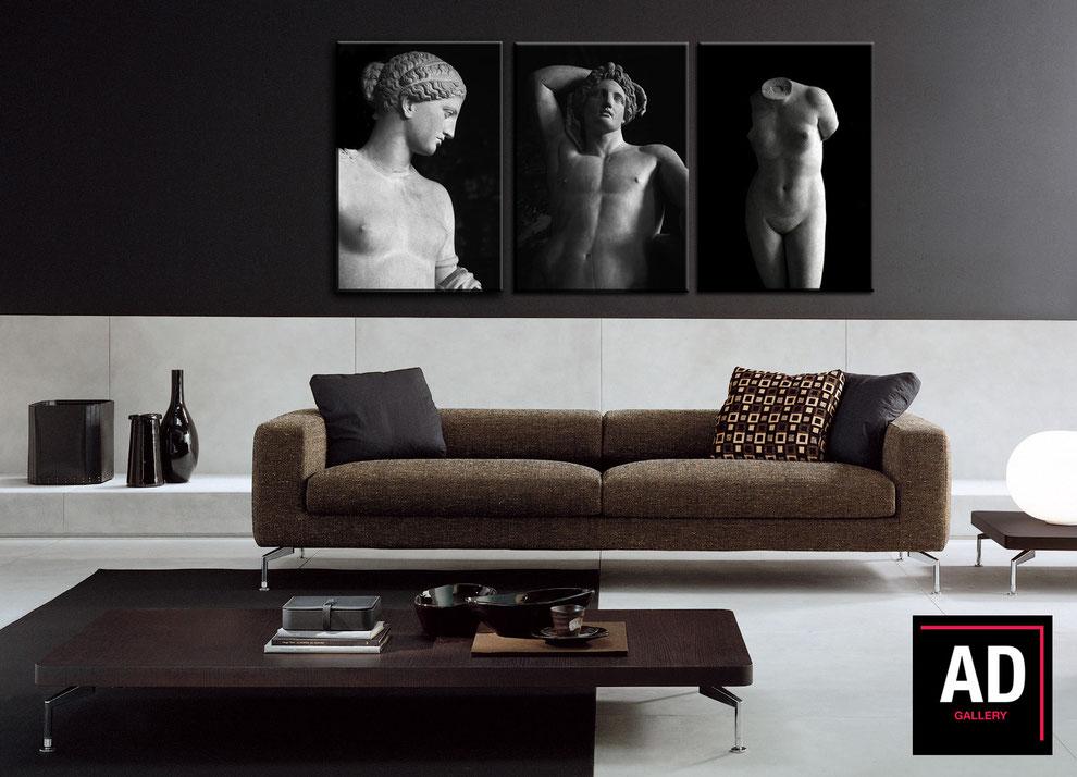 Trittico 'Louvre' - Collezione L'ombra e la grazia - fotografie di Alberto Desirò
