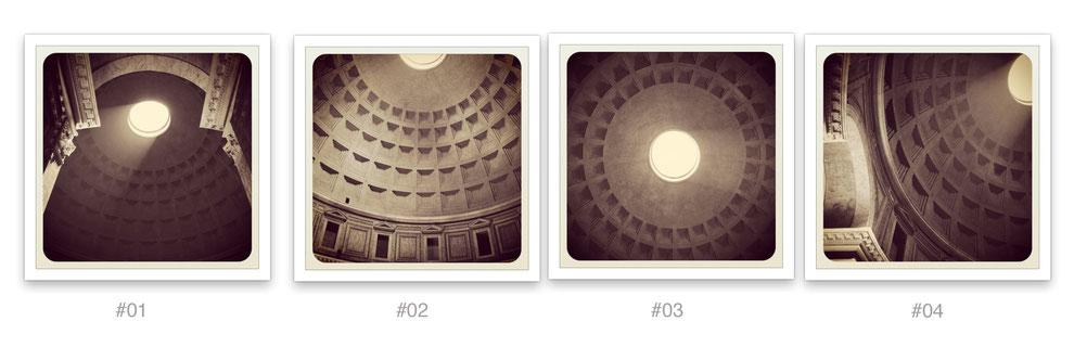 Pantheon diecicentimetriquadri - quadrittico - fotografie di Alberto Desirò