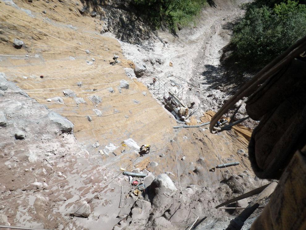 のり面保護工事(安房峠|長尾県松本市)崩落斜面を復旧