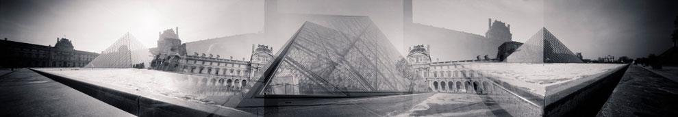 Sténopé panoramique, Paris, Louvre
