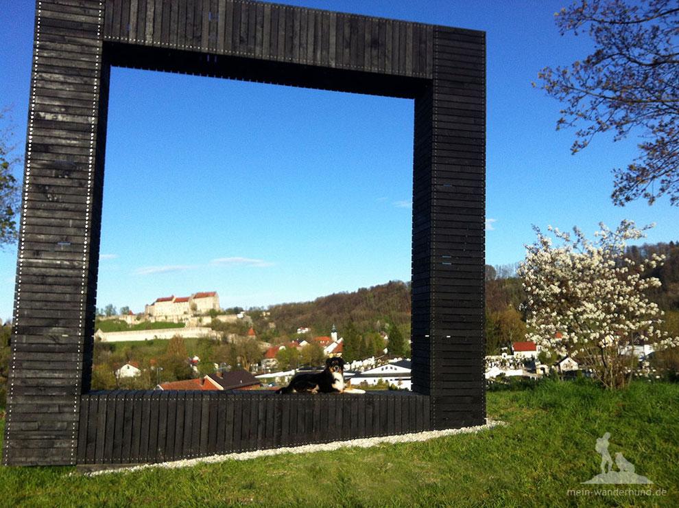 Burghausen, Wandern mit Hund, weltlängste Burg