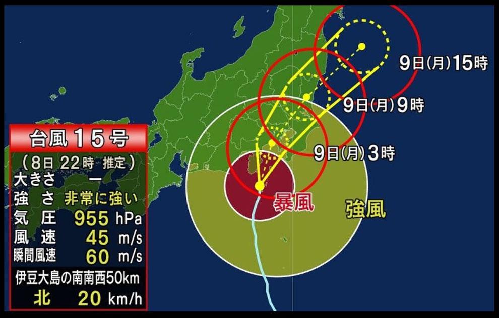 台風15号進路と被害 防災準備の必要性