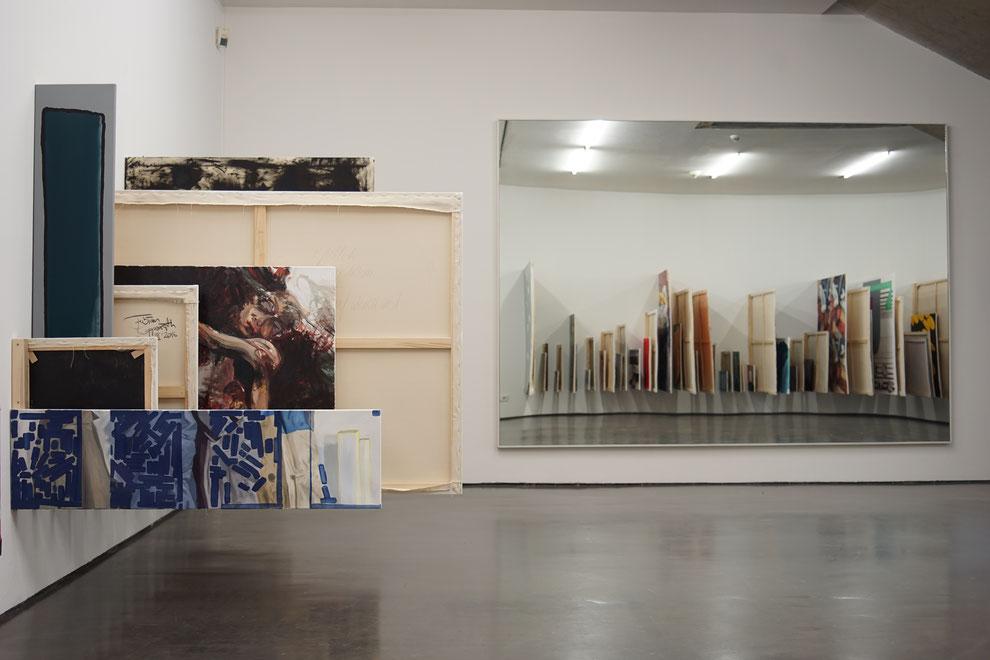.zip, Klassenprojekt der Klasse Klaus Merkel neben Spiegel von Gerhard Richter