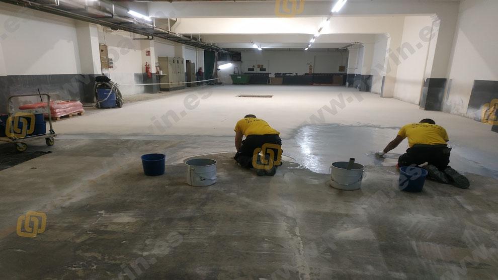 Sòls de resina epoxi per a paviments industrials en naus de magatzematge