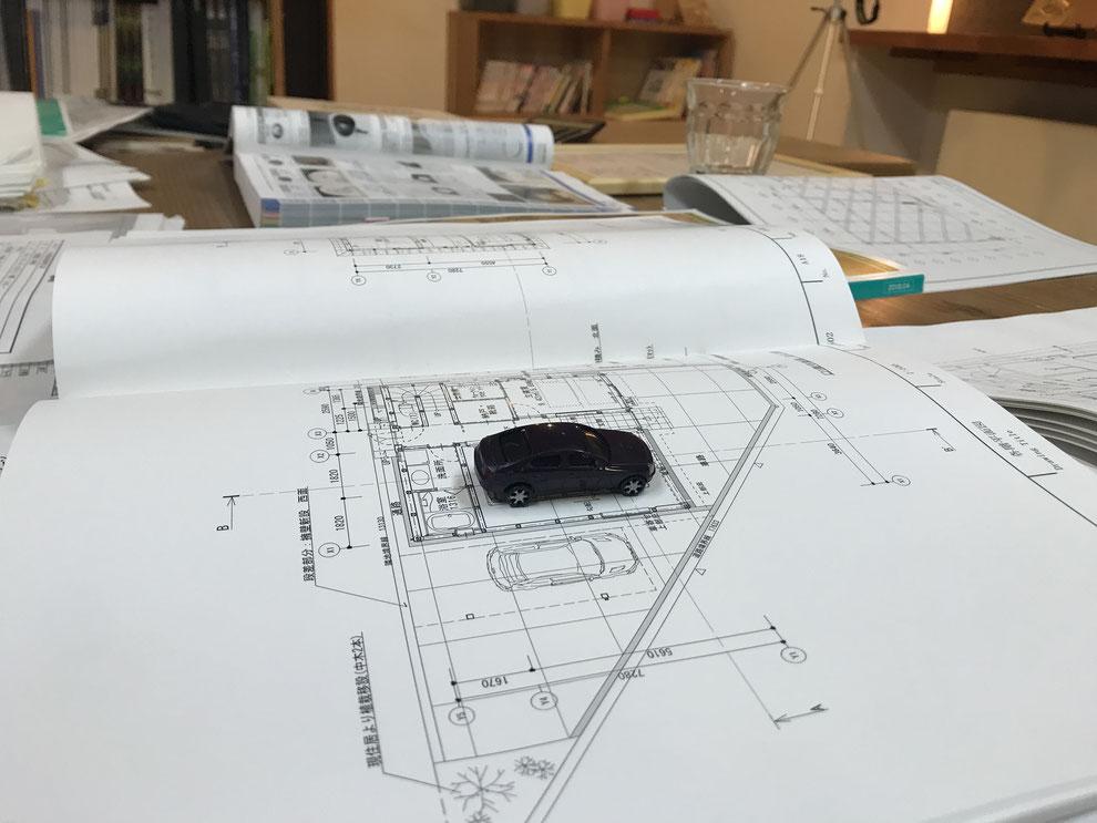 ガレージハウス 打合せ 建築家