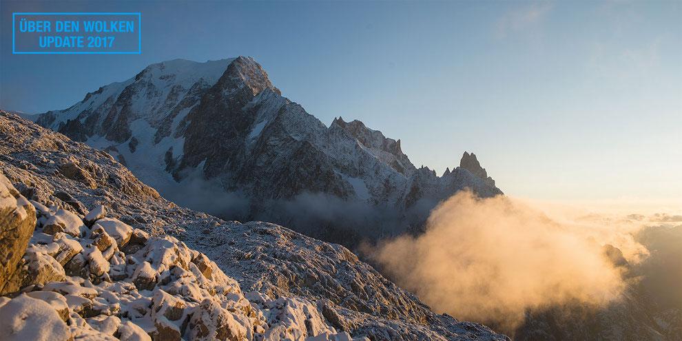 Sonnenaufgang am Montblanc und Peutereygrat | © Bernhard Thum