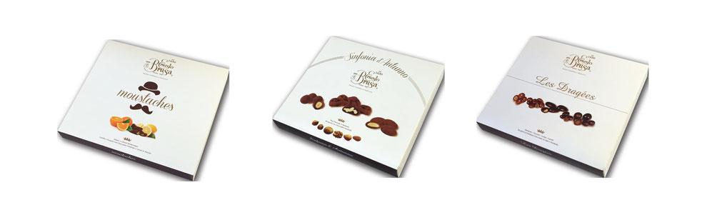 Produzione dolci cioccolato a Varese, moustaches, dragees, praline.