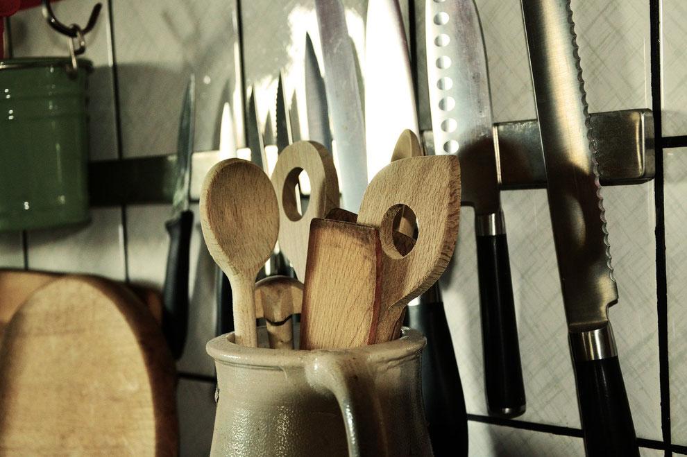 Küchengeräte und Küchenutensilien für eine plastikfreie Gastronomie