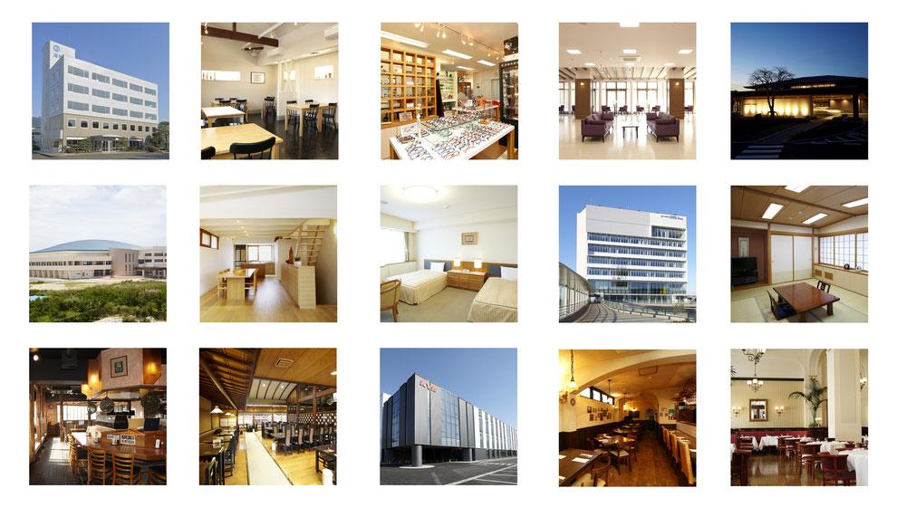 オフィスビル、店舗、ホテル、ゴルフクラブ、ホール、和室、料理店、結婚式場、客室 撮影