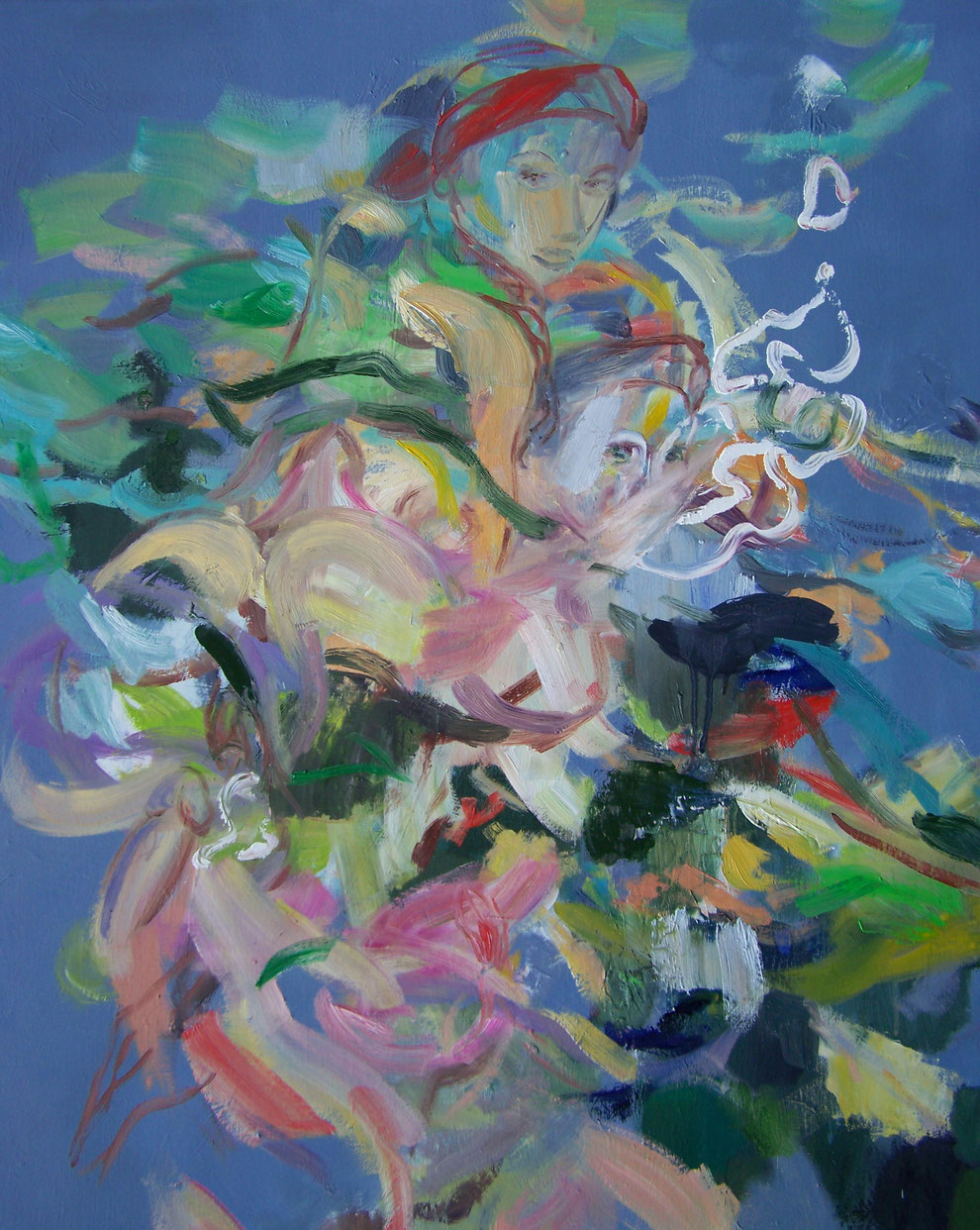 Judith - Komplott der Musen, Oil on canvas, 180 x 145 cm, 2013