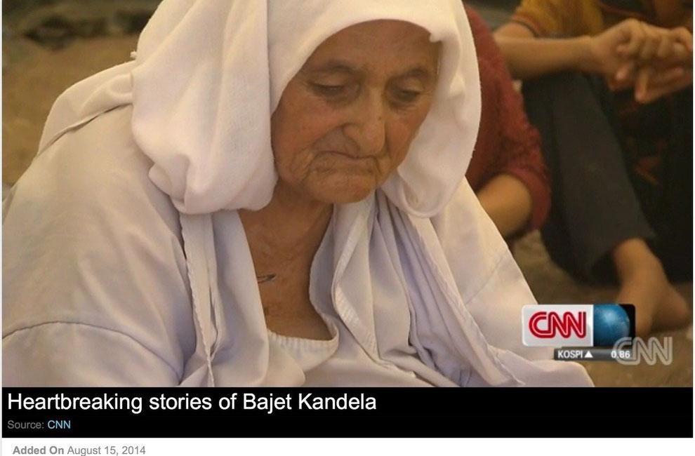 Video von CNN über die Lage der Flüchtlinge an der irakisch-syrischen Grenze (vom 15. August 2014)