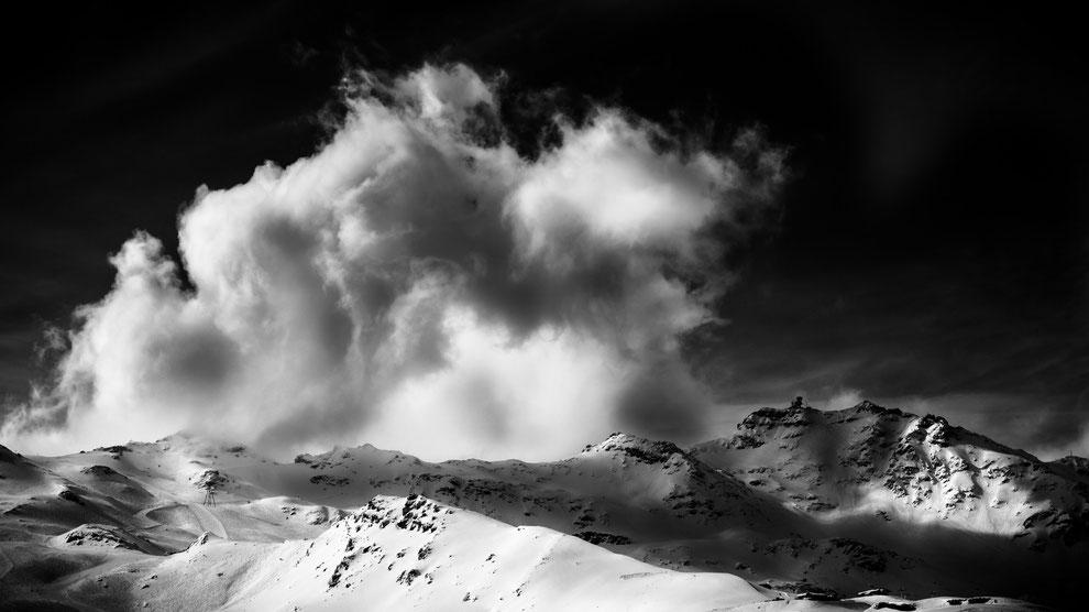 Du haut de la cime CARON, Val Thorens