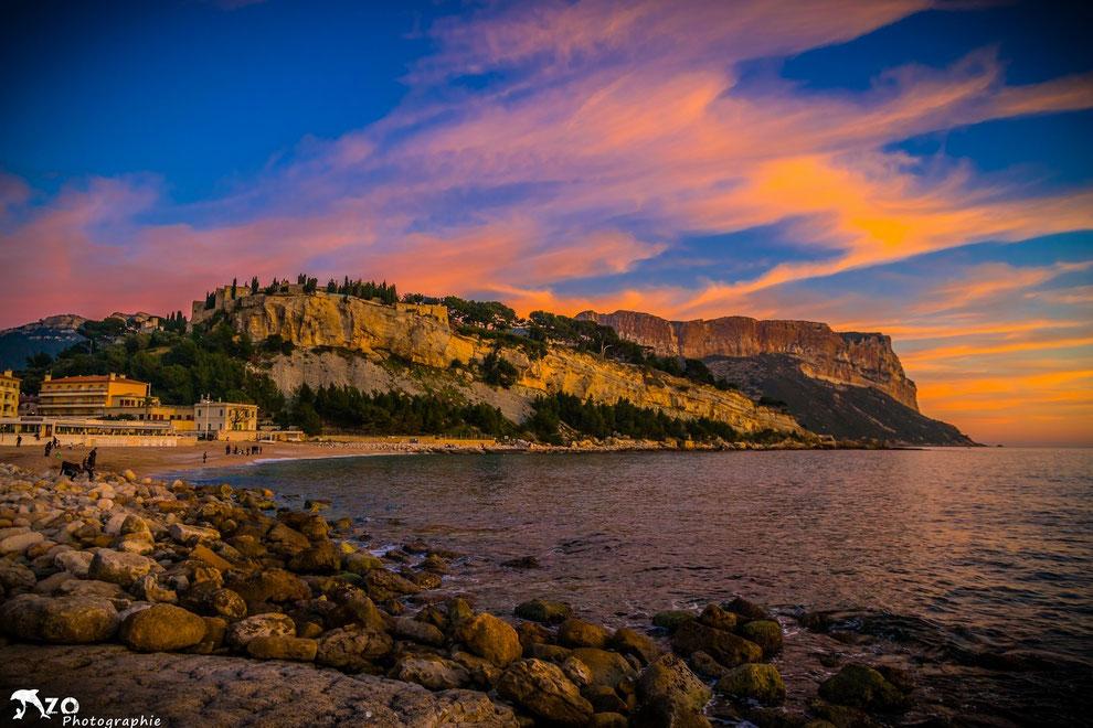 Coucher de soleil sur Cap Canaille