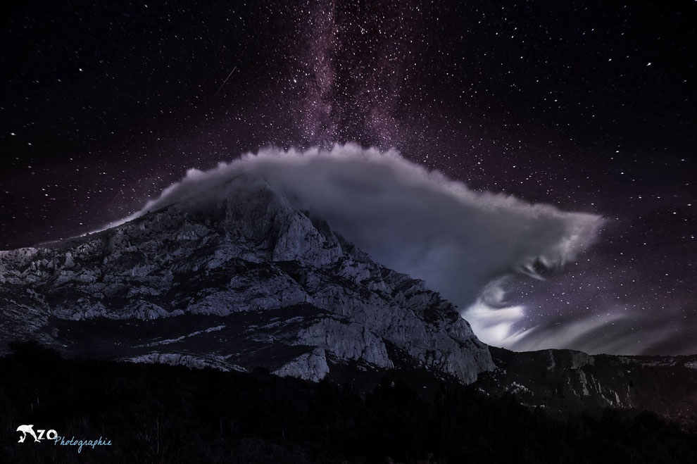 Douce nuit sur la Sainte Victoire - Reflet lunaire - Aix en provence - Enzo Fotographia - Enzo Photographie