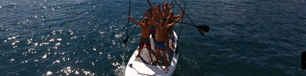 BIG SUP ein Monster Standup Paddle in unserer Kiteschule am Gardasee