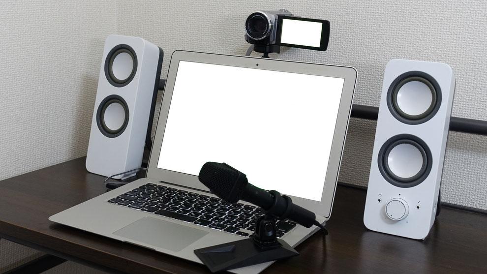 オンライン配信PC&機材