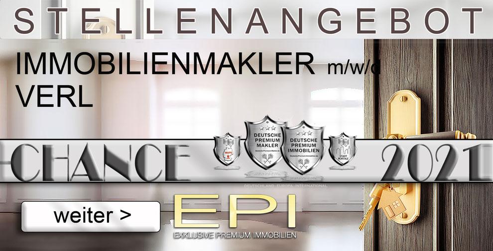 S-OWL-082 VERL STELLENANGEBOTE IMMOBILIENMAKLER FESTANSTELLUNG MAKLER
