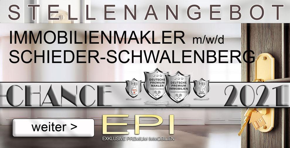 S-OWL-075 SCHIEDER-SCHWALENBERG STELLENANGEBOTE IMMOBILIENMAKLER FESTANSTELLUNG MAKLER