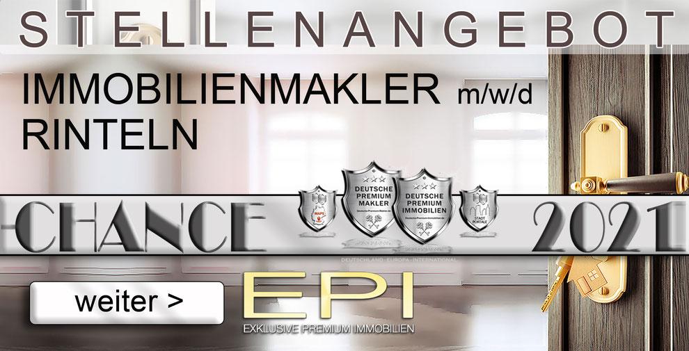 S-OWL-072 RINTELN STELLENANGEBOTE IMMOBILIENMAKLER FESTANSTELLUNG MAKLER