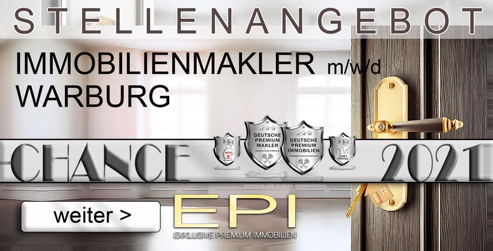 S-OWL-085 WARBURG STELLENANGEBOTE IMMOBILIENMAKLER FESTANSTELLUNG MAKLER