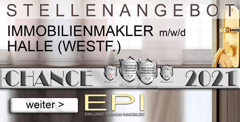 S-OWL-040 HALLE-(WESTF.) STELLENANGEBOTE IMMOBILIENMAKLER FESTANSTELLUNG MAKLER
