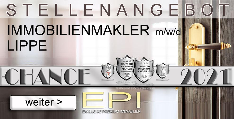 S-OWL-055 LIPPE STELLENANGEBOTE IMMOBILIENMAKLER FESTANSTELLUNG MAKLER