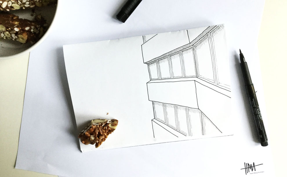 Arlington House in Margate Sketch by Heidi Mergl Architect