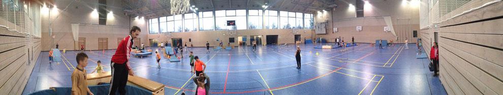 Sporthalle Minigolf Sportunterricht Langenegger